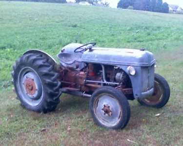 [Photo of 2N Tractor as found]
